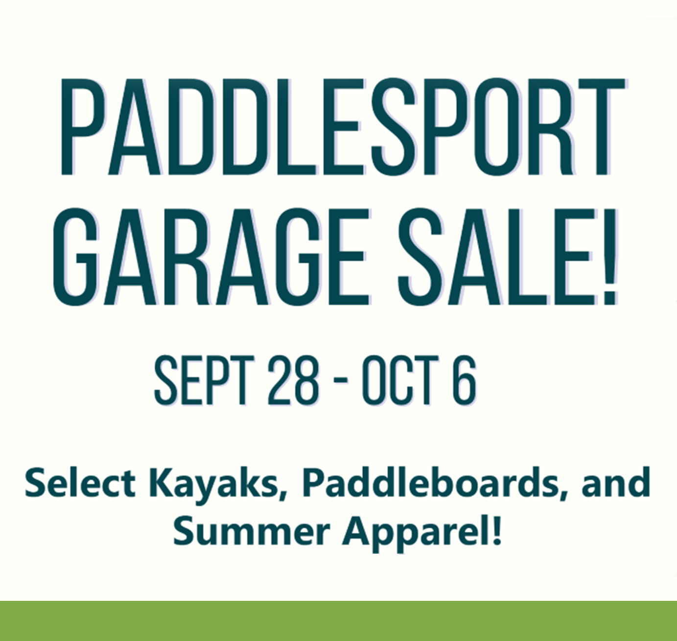 Paddlesport Garage Sale | Rocktown Adventures