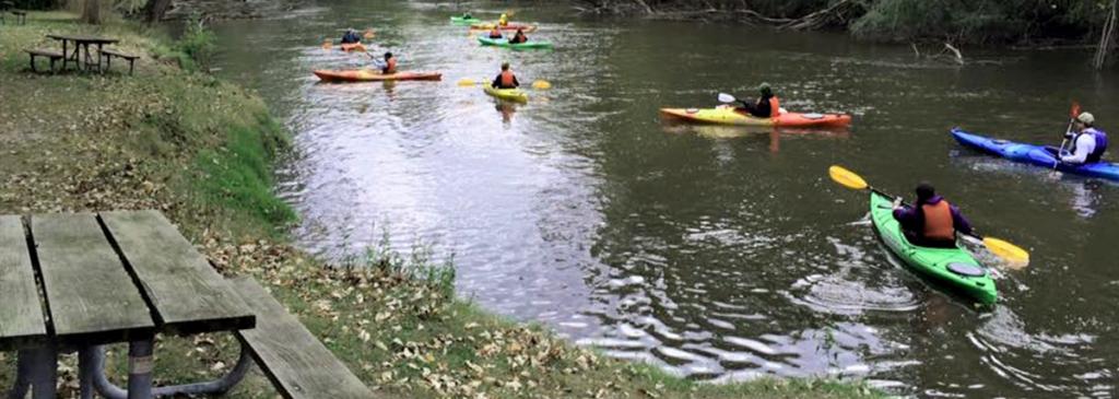 Staged Kayaks, Fall Paddle | Rocktown Adventures