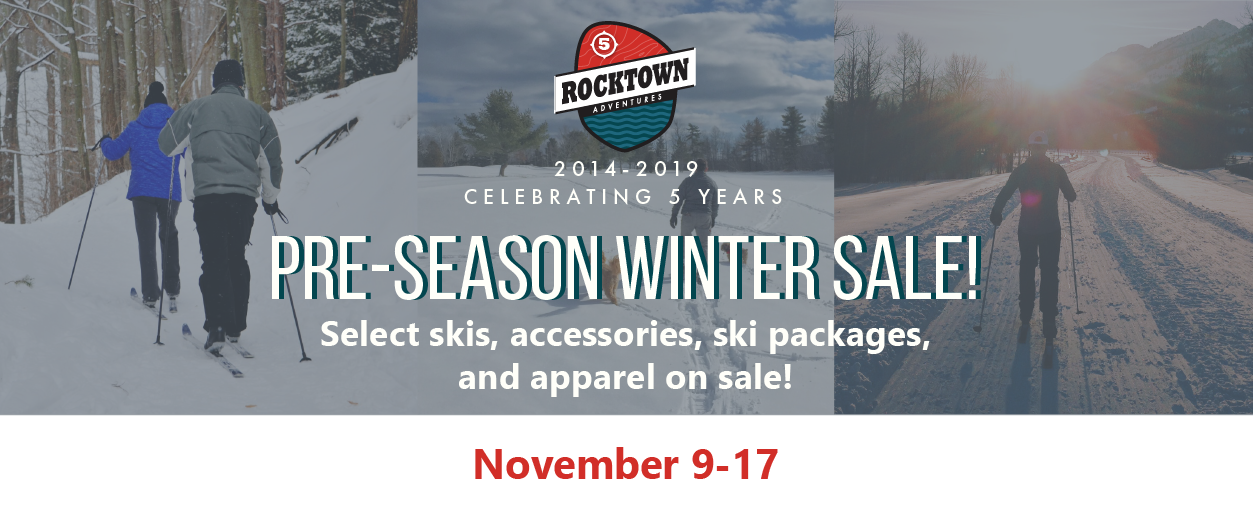 Pre-Season Winter Sale | Rocktown Adventures