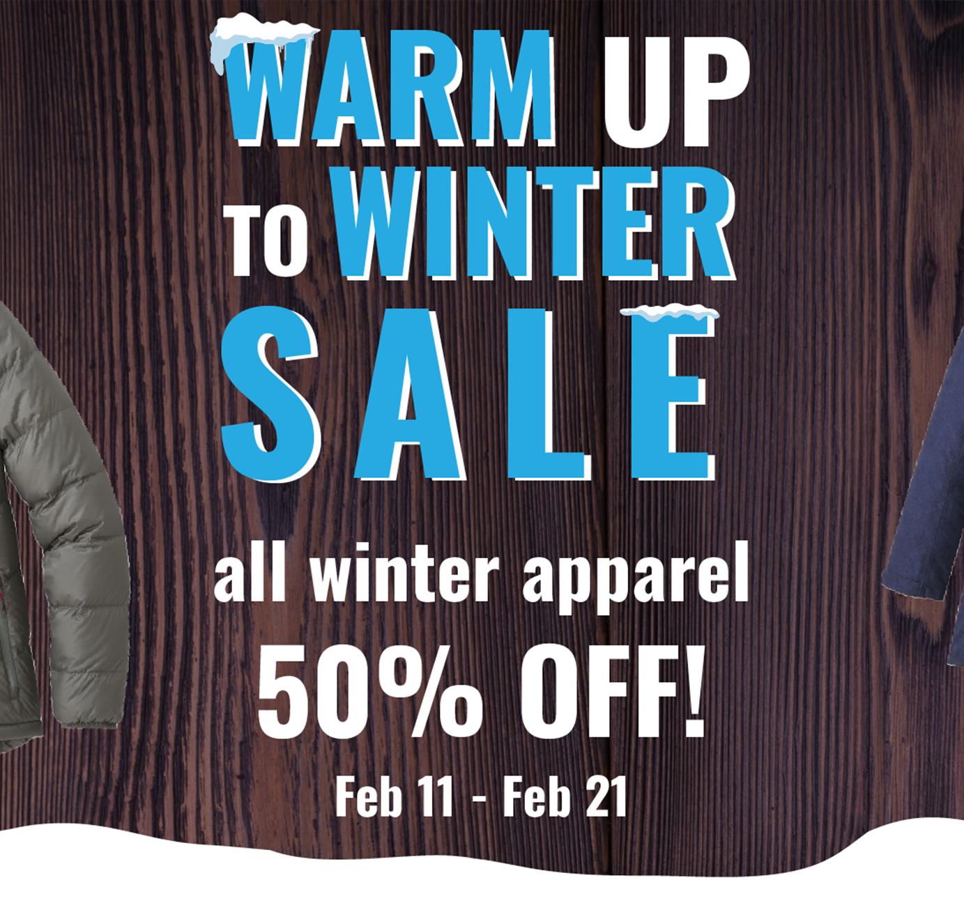 Rocktown Adventures | 2021 Warm Up to Winter Sales Event