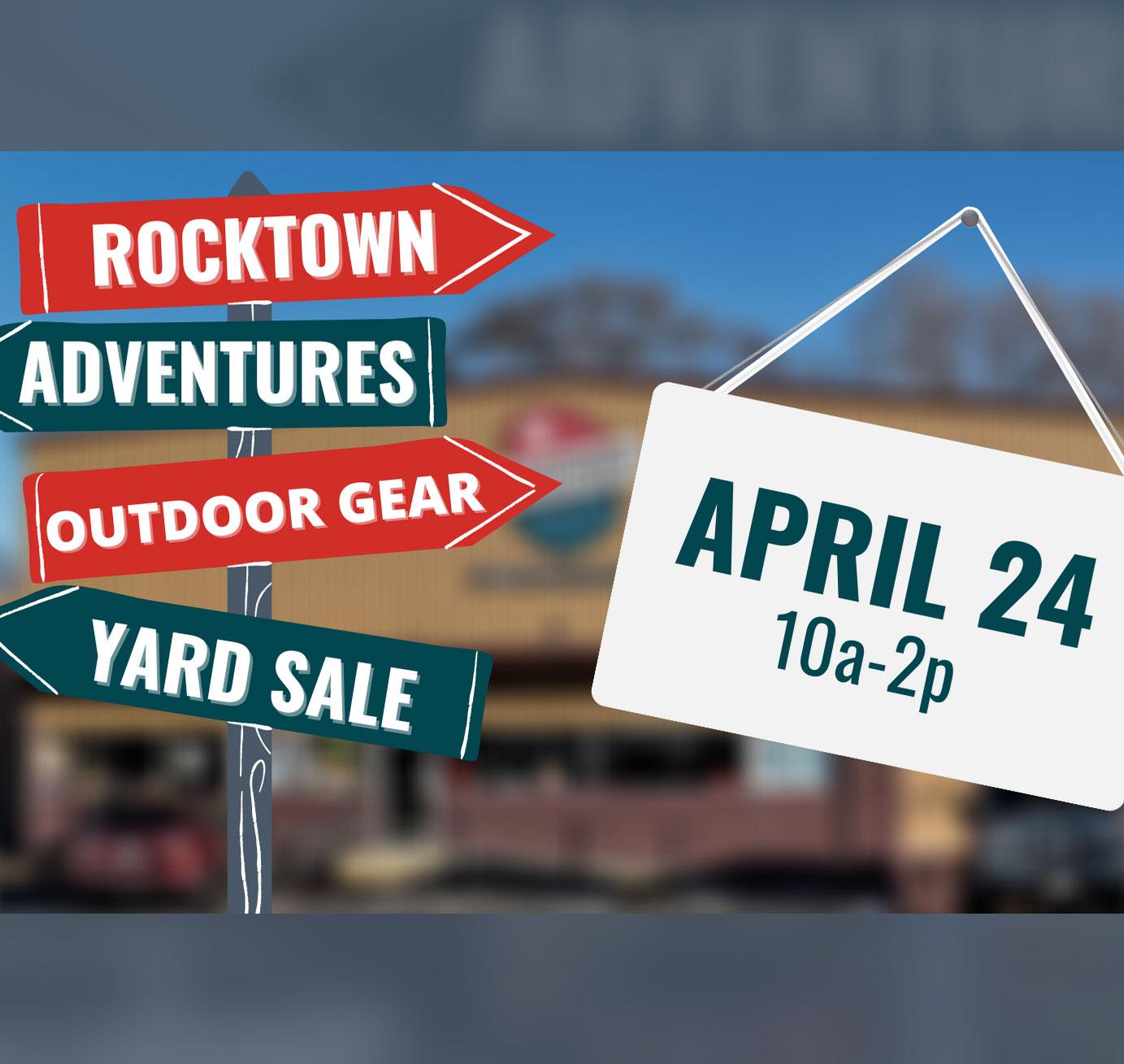 Rocktown Adventures | 2021 Outdoor Gear Yard Sale